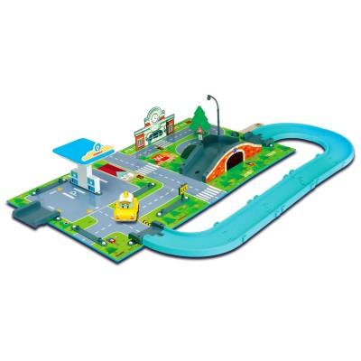 Ouaps Aire de jeu 3D Robocar Poli : Station service Vroom Ville