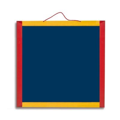 Jeujura Ardoise en bois 45 x 45 cm réversible et magnétique