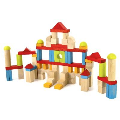 Jeujura Blocs de construction : 82 pièces en bois