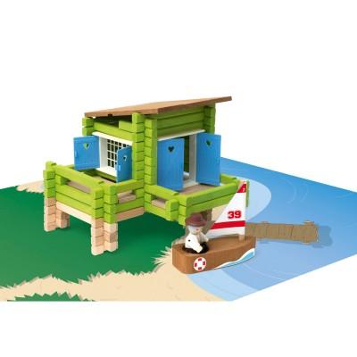 JeuJura La maison sur pilotis en bois : 100 pièces