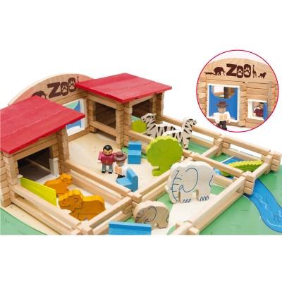 JeuJura Le zoo en bois : 160 pièces