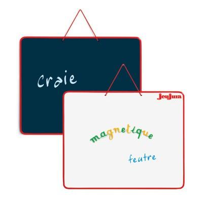 Jeujura Ardoise réversible 62 x 50 cm : multifonctions
