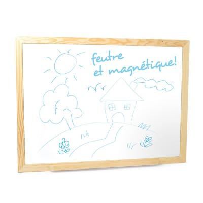 JeuJura Grand tableau en bois : Feutre et magnétique