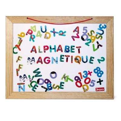 Jeujura Ardoise en bois 58 x 45 cm double face : abc et chiffres
