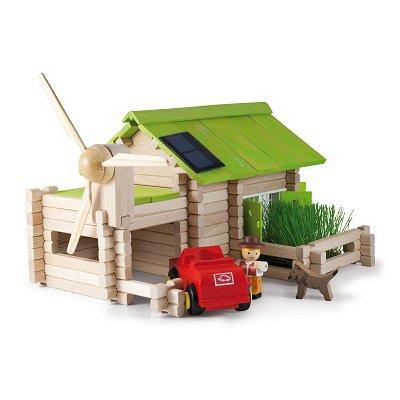 Jeujura Chalet écologique en rondins de bois 145 pièces