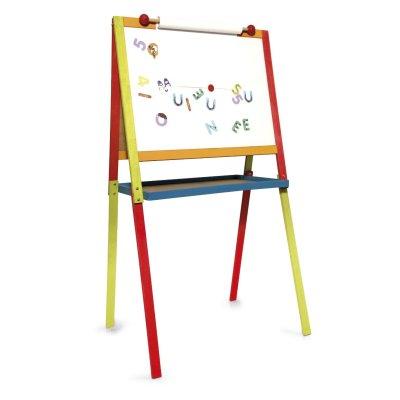 JeuJura Tableau dessin en bois : Arlequin
