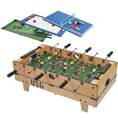 Table multi jeux 4 en 1 babyfoot ping pong billard hockey magasin de j - Table multi jeux enfant ...