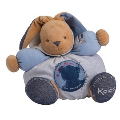 Kaloo Kaloo Blue Denim : Patapouf lapin tout sourire
