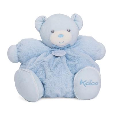 Kaloo Kaloo perle : peluche 30 cm patapouf large ours bleu