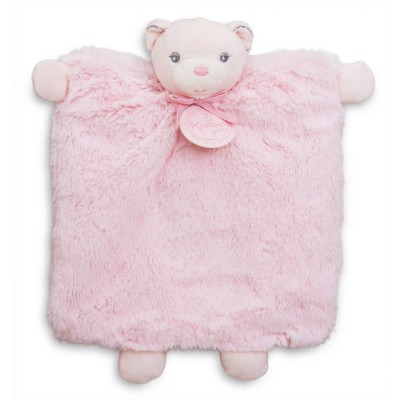 Kaloo Kaloo Perle : Doudou ourson marionnette rose