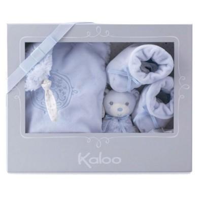 Kaloo Kaloo Perle : Coffret naissance 3 pièces bleu
