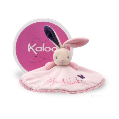 Kaloo Kaloo Petite Rose : Doudou lapin rond : Je t'aime