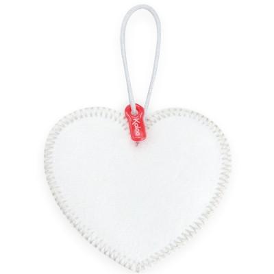 Kaloo Pendentif coeur pour doudou : Monkoeur : Coeur à broder