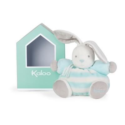 Kaloo Kaloo bébé pastel : peluche patapouf lapin aqua et crème