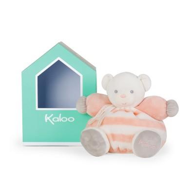 Kaloo Kaloo bébé pastel : peluche patapouf ours pêche et crème