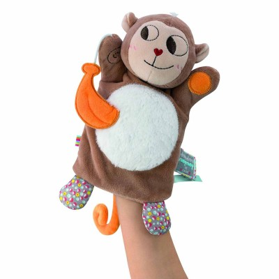 Kaloo Kaloo nopnop : doudou marionnette singe banana