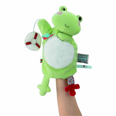 Kaloo Kaloo nopnop : doudou marionnette grenouille bloom