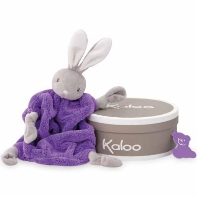 Kaloo Kaloo néon : doudou lapin violet fluo