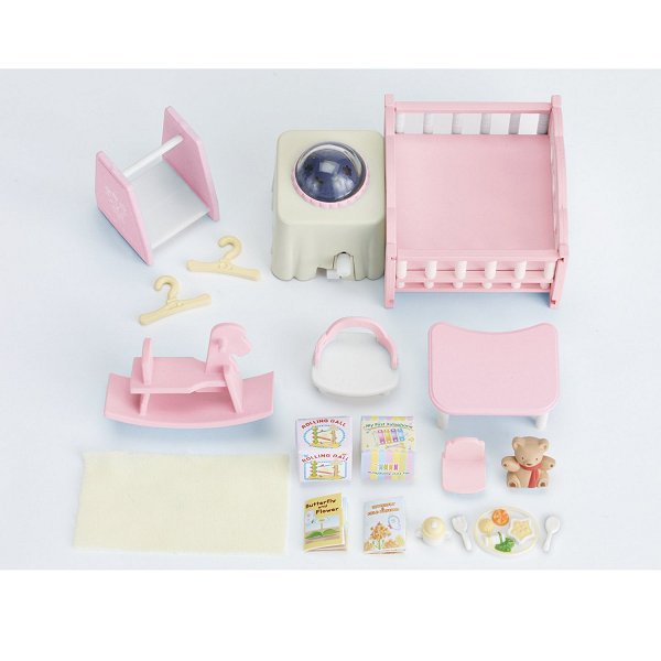 Sylvanian family 2957 nurserie clair e ebay for Sylvanian chambre parents