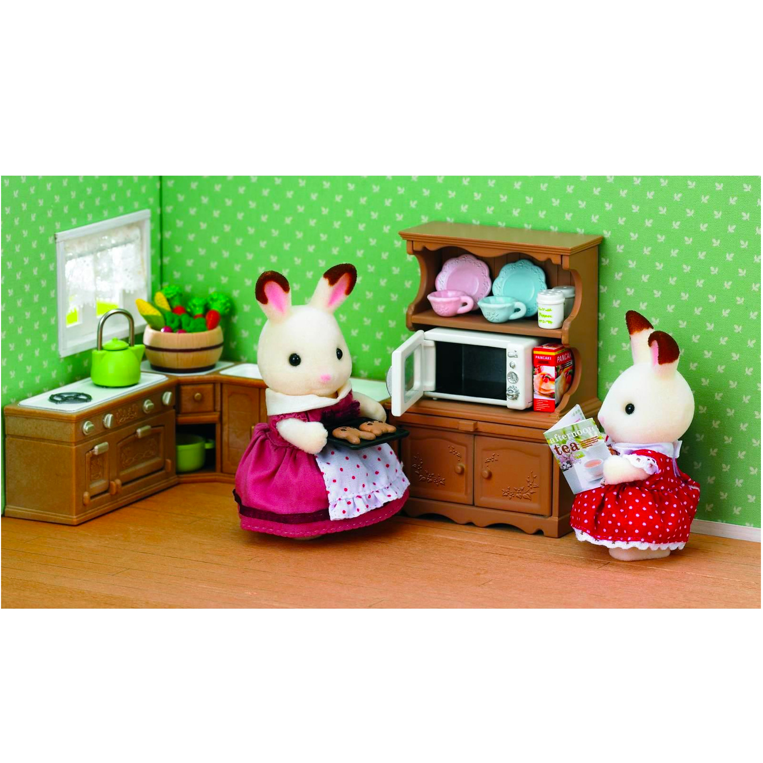 sylvanian family 3561 ensemble cuisine et four ebay. Black Bedroom Furniture Sets. Home Design Ideas