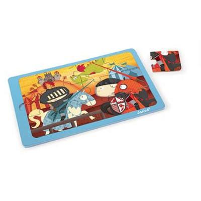 puzzle en bois la bataille du chevalier arthur 12 pi ces janod magasin de jouets pour enfants. Black Bedroom Furniture Sets. Home Design Ideas