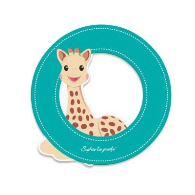 Janod Lettre décorative Sophie la Girafe : O (bleu)