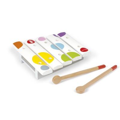 Janod Xylophone Mini xylo en bois confetti : 5 tons