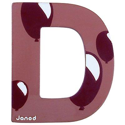 Janod Lettre décorative en bois : D