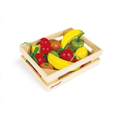 epicerie cagette de 12 fruits janod magasin de jouets pour enfants. Black Bedroom Furniture Sets. Home Design Ideas