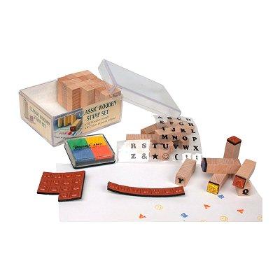 Kids Work cachets en bois mini set de tampons alphabet majuscule