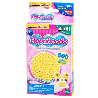 Aquabeads Aquabeads : recharge de 600 perles jaunes
