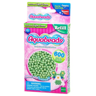Aquabeads Aquabeads : recharge de 600 perles vertes claires