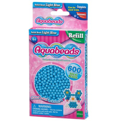 Aquabeads Aquabeads : recharge de 600 perles bleues claires