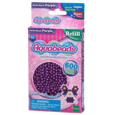 Aquabeads Aquabeads : recharge de 600 perles violettes