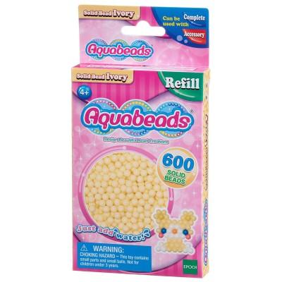 Aquabeads Aquabeads : recharge de 600 perles ivoire