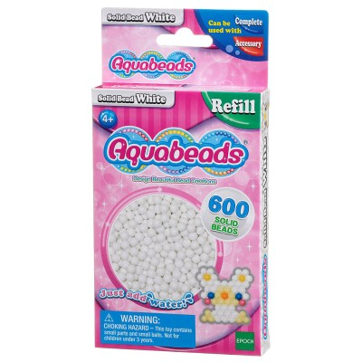 Aquabeads Aquabeads : recharge de 600 perles blanches