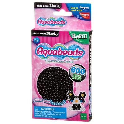 Aquabeads Aquabeads : recharge de 600 perles noires