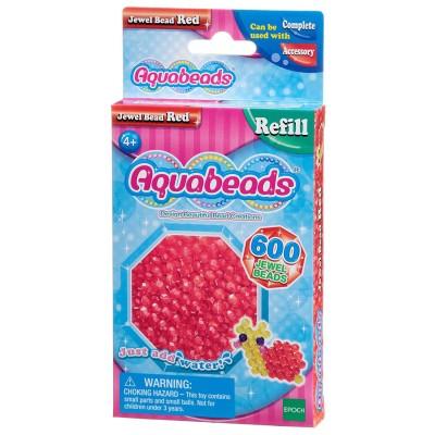 Aquabeads Aquabeads : recharge de 600 perles à facettes rouges