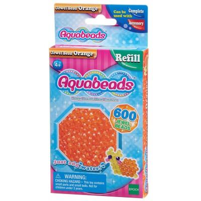 Aquabeads Aquabeads : recharge de 600 perles à facettes orange