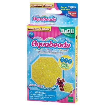 Aquabeads Aquabeads : recharge de 600 perles à facettes jaunes