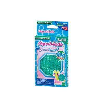 Aquabeads Aquabeads : recharge de 600 perles à facettes vertes