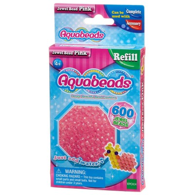 Aquabeads Aquabeads : recharge de 600 perles à facettes roses