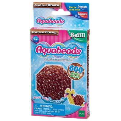 Aquabeads Aquabeads : recharge de 600 perles à facettes marron