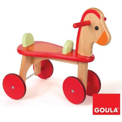 Goula Porteur cheval en bois