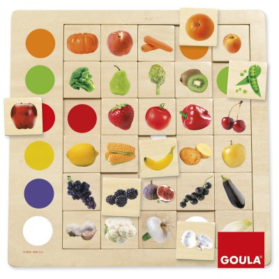 Goula Jeu éducatif Association couleurs-fruits