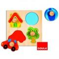Goula Encastrement 4 pièces en bois : Puzzle couleur