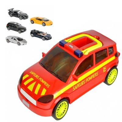 Majorette Majorette Carry Car Sapeurs-Pompier - 5 Voitures