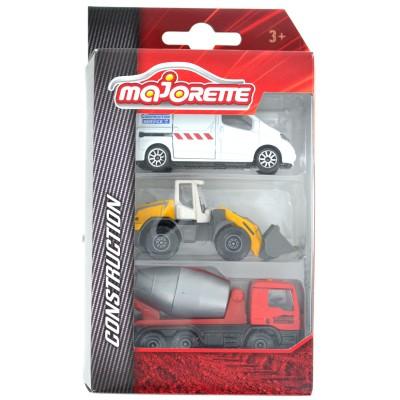 Majorette Coffret 3 véhicules en métal : premium construction