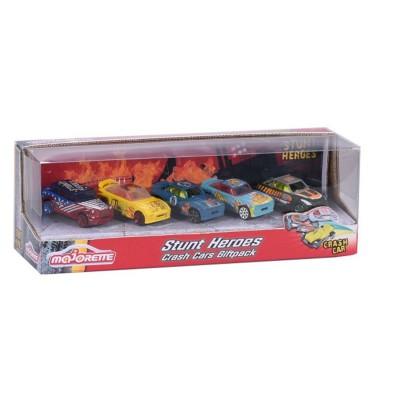 Majorette Coffret de 5 voitures stunt heros
