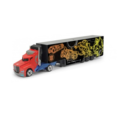 Majorette Camion transformers : optimus prime avec remorque